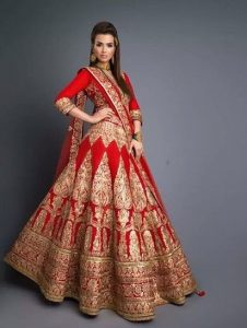 Bridal Lehenga Red and Golden