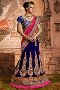 Bridal Lehenga Saree Designs