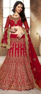 Images of Red Bridal Lehenga