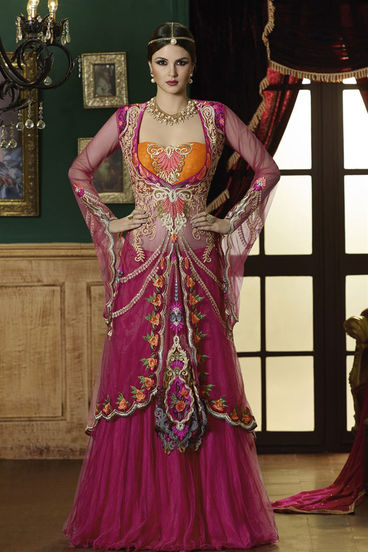 5e1a6c4461742 Indo Western Lehengas Design and Pictures