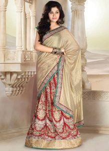 Lehenga Saree Bridal Pictures