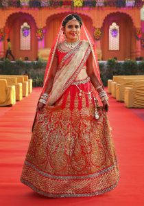 Red Bridal Lehenga Images