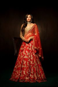 Red Bridal Lehenga Pics