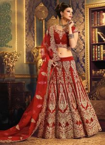 Red Bridal Lehenga Pictures