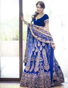 Royal Blue Marriage Lehenga